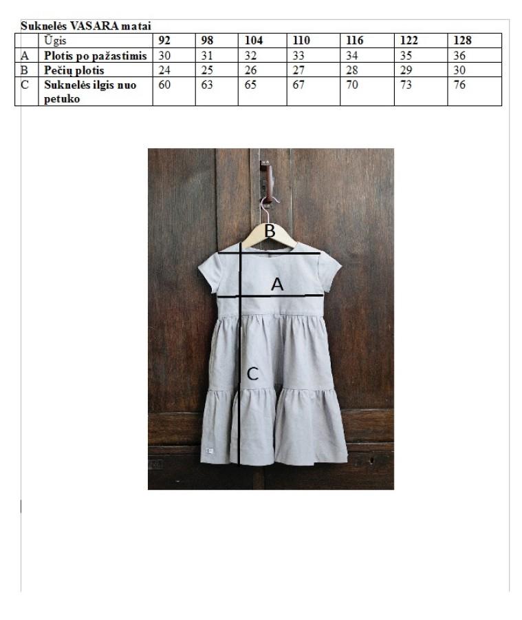 Suknelė VASARA - pelenų alyvinė