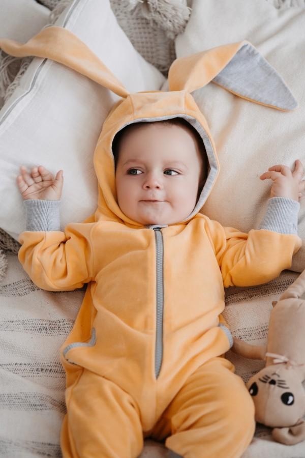 Yellow Velour Bunny