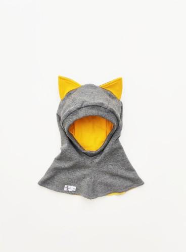 Grey - Yellow Kitten Spring